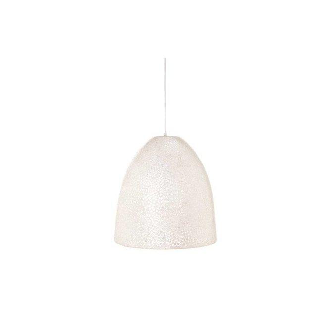 Villaflor schelpenlamp - Wangi White - hanglamp - Hangende Conus - M