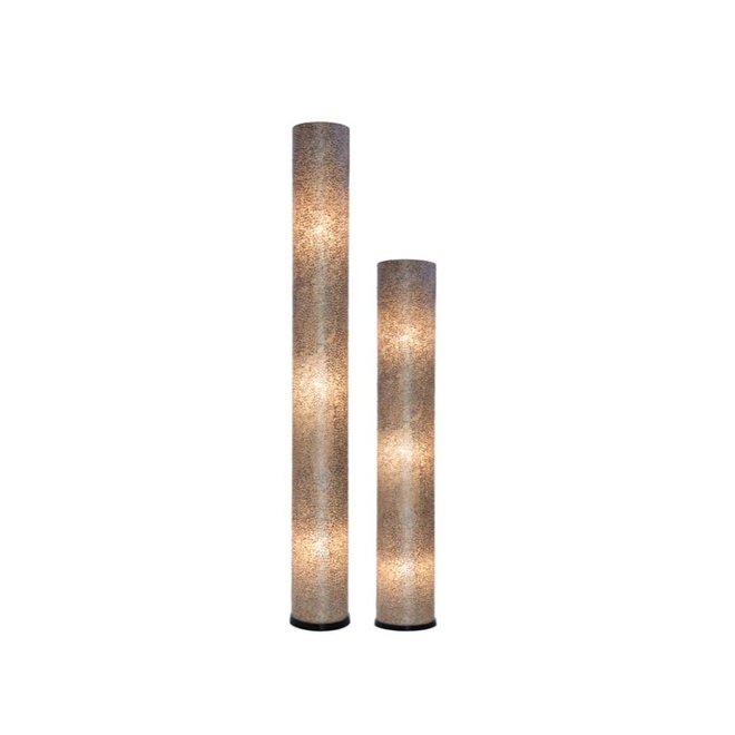 Villaflor schelpenlamp - Wangi Gold - vloerlamp - Cilinder - hoogte 150 cm