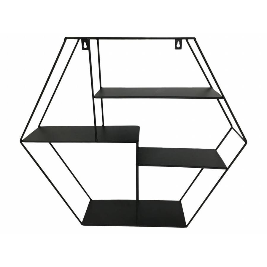 House Vitamin® Wandrek Hexagon, zwart