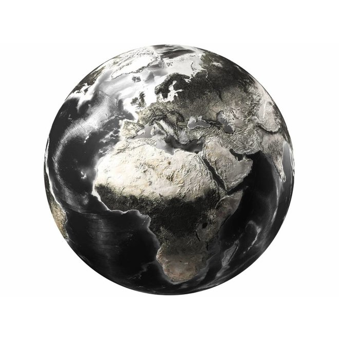 Glass Art World Map round 100
