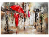 Gave Specials Metal Art Woman in Red 80x120