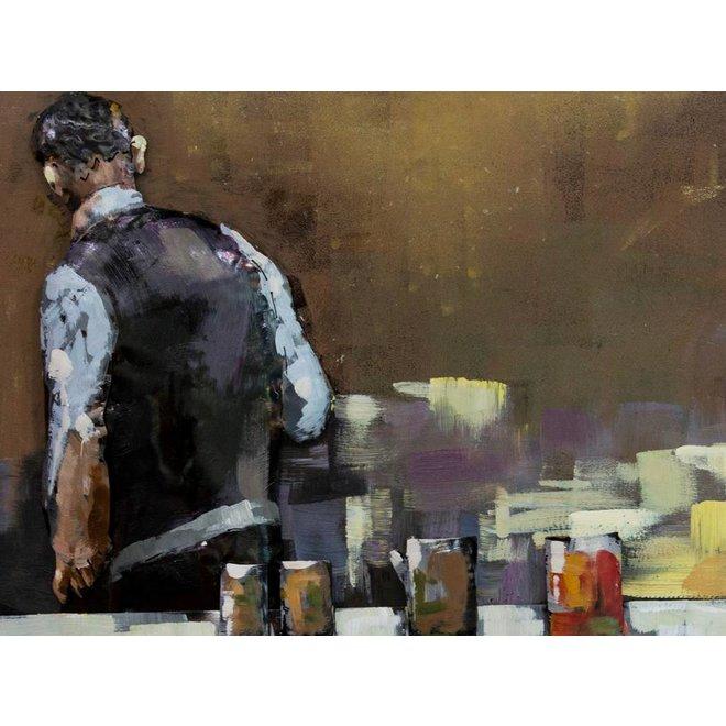 Metal Art Bartenders at work 150x60