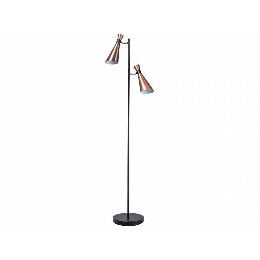 Expo Trading Vloerlamp York zwart/koper
