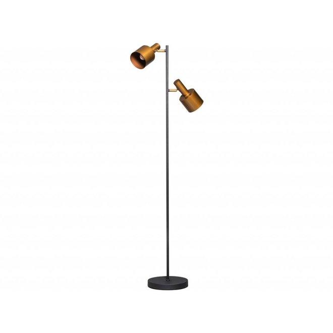 Vloerlamp Sledge zwart/goud