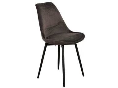 Pole to Pole Chair Leaf Dark Grey