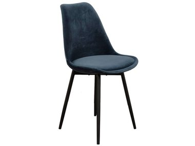 Pole to Pole Chair Leaf Ocean Blue