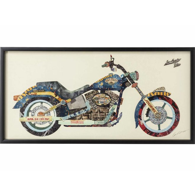 Picture Frame Art Motorbike