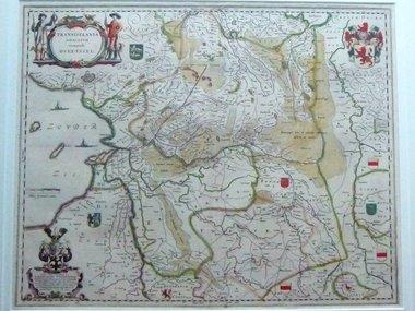 Gouldmaps Overijssel- J. Blaeu - Transiselania dominium vernaculè Over-yssel - 1635-1650