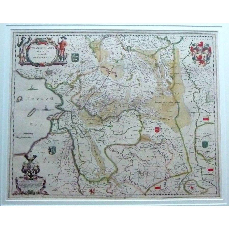 Gouldmaps Overijssel - J. Blaeu - Transiselania dominium vernaculè Over-yssel - 1635-1650