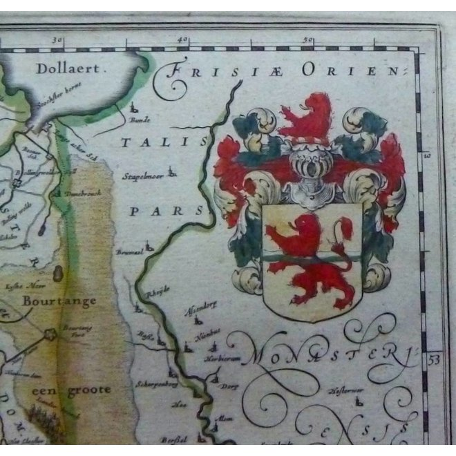 Verkocht - Collectie Gouldmaps - Overijssel- J. Blaeu - Transiselania dominium vernaculè Over-yssel - 1635-1650