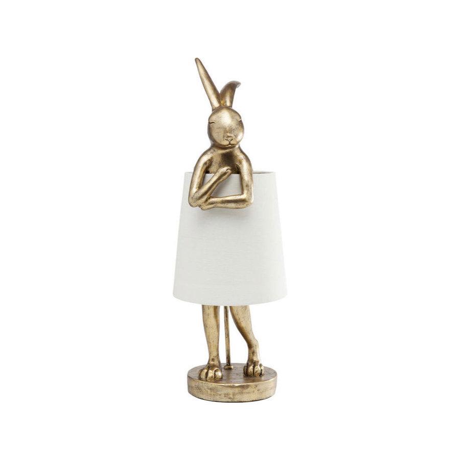 Kare Table Lamp Animal Rabbit Gold