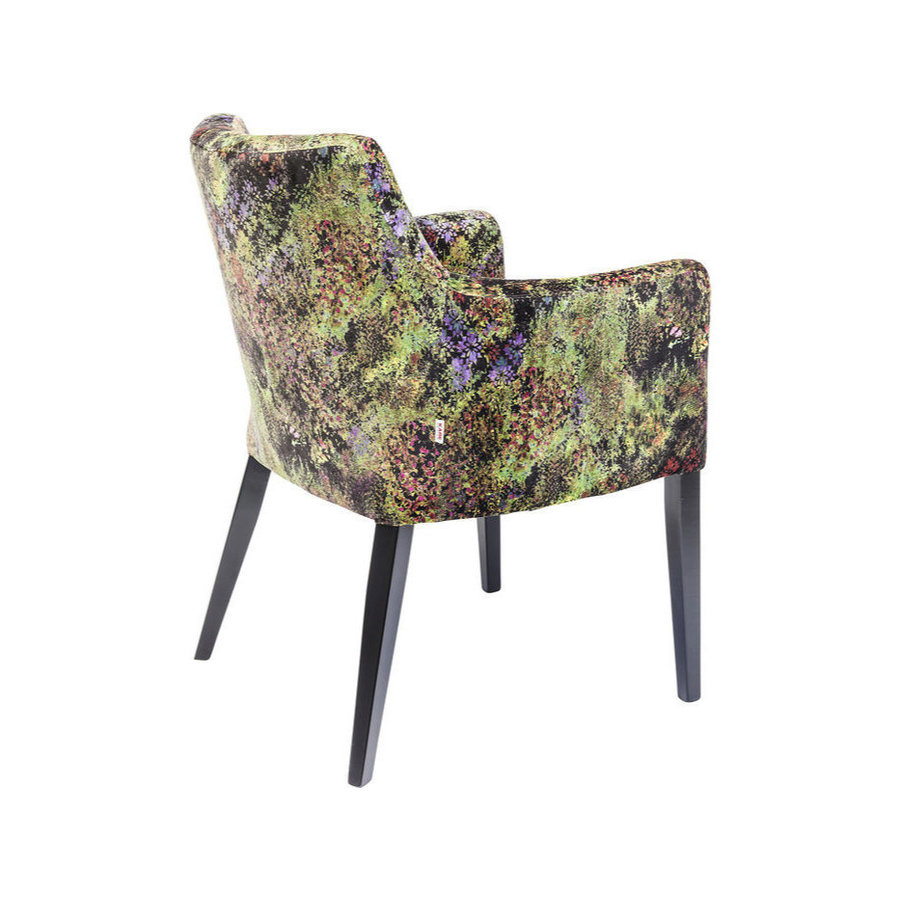 Kare Chair with Armrest Black Mode Green Dschungel