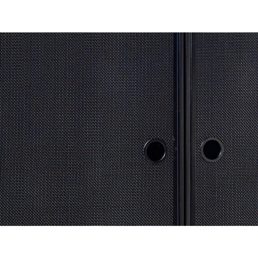 Hübsch Cabinet Metal Mesh Black