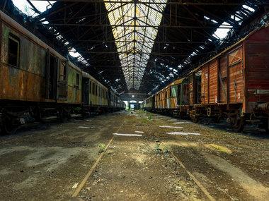 Spiegelprofi Glass Art Railway Wagons 90x120