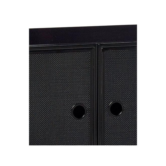 Cupboard Metal Mesh Black