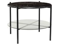 Hübsch Table Marble Black