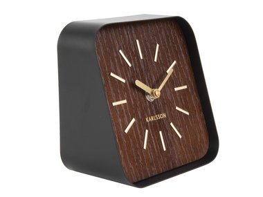 Karlsson Table Clock Squared, dark wood
