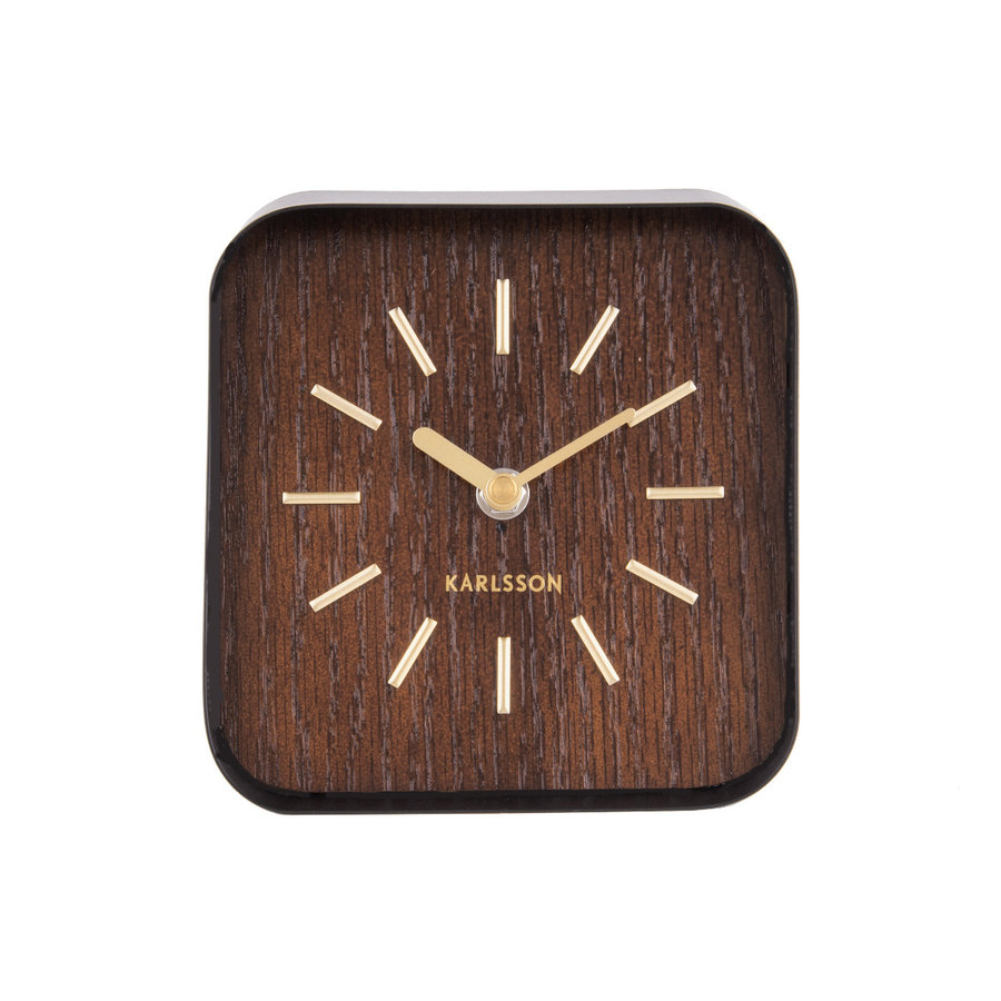 Karlsson Table Clock Squared, dark wood