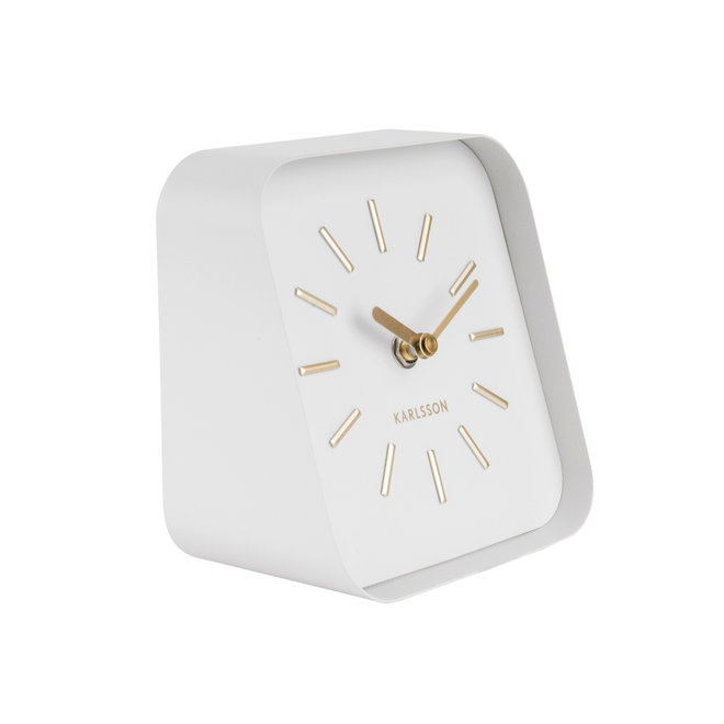 Table Clock Squared, white