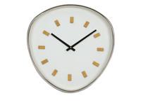 Werner Voß Wall Clock Retrospective, white