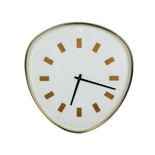 Wall Clock Retrospective, white XL