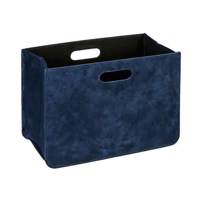 Magazine Basket 'Royal', velvet blue