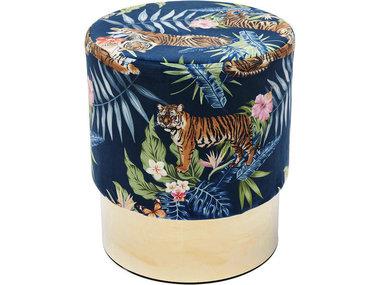 Kare Stool Cherry Jungle Tiger Gold