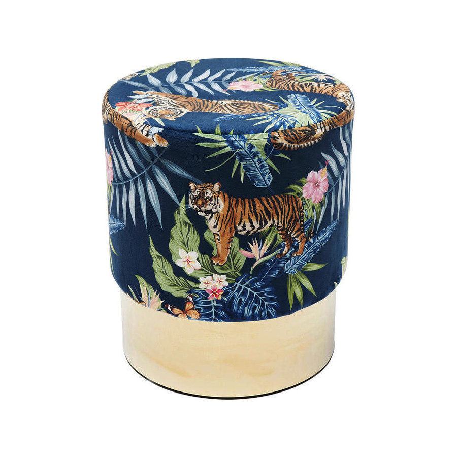 Kare Stool Cherry Jungle Tiger Gold