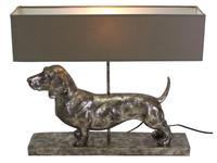 Werner Voß Table Lamp Dachshund, silver