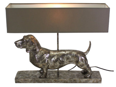 Werner Voß Table Lamp Dachshund, silver