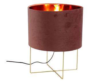 Werner Voß Table Lamp Trixi Velvet Pink L