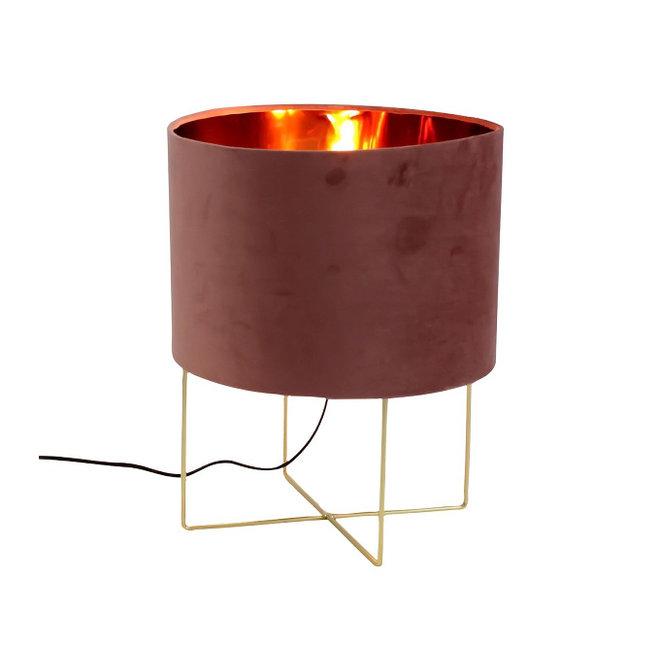 Table Lamp Trixi Velvet Pink L