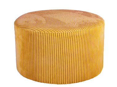 Leitmotiv Pouf Glam small corduroy curry yellow
