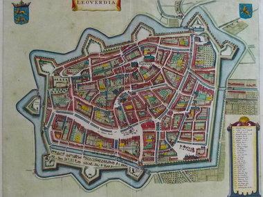 Gouldmaps Leeuwarden; J. Janssonius - Leoverdia. - 1635