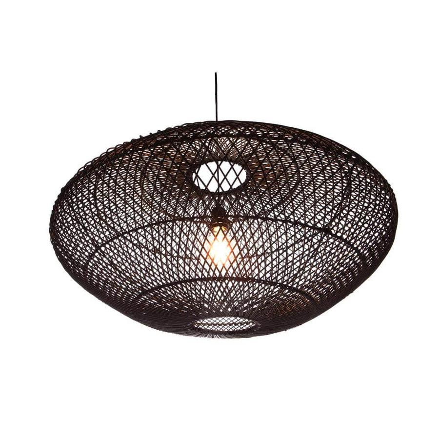 Villaflor Rattan hanglamp UFO zwart
