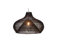 Villaflor Rattan Dome - hanglamp zwart