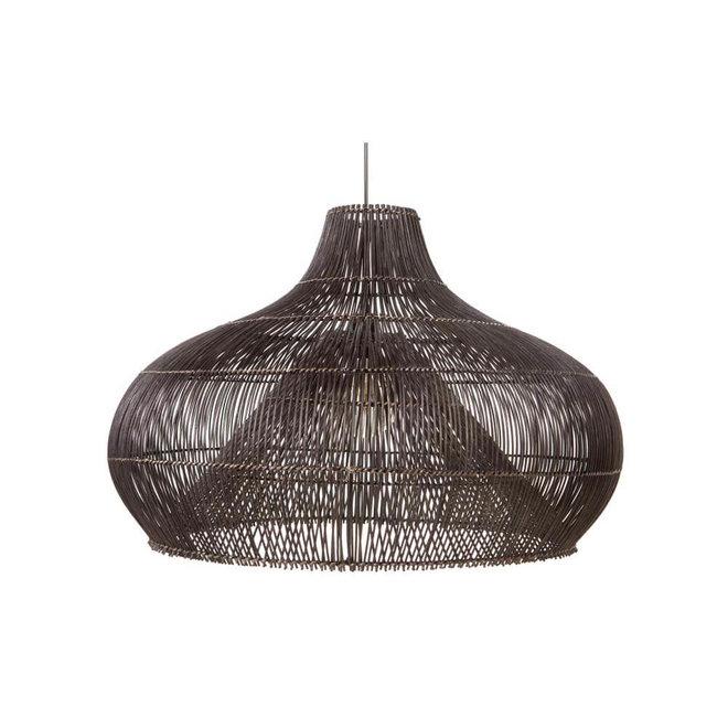Rattan Dome - hanglamp zwart