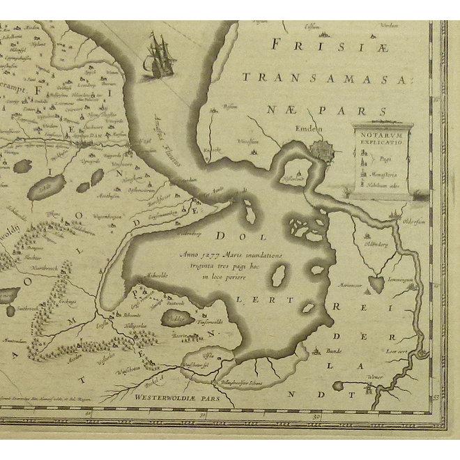 Collectie Gouldmaps - Groningen; J. Janssonius - Groninga Dominium.  - 1640 ca.