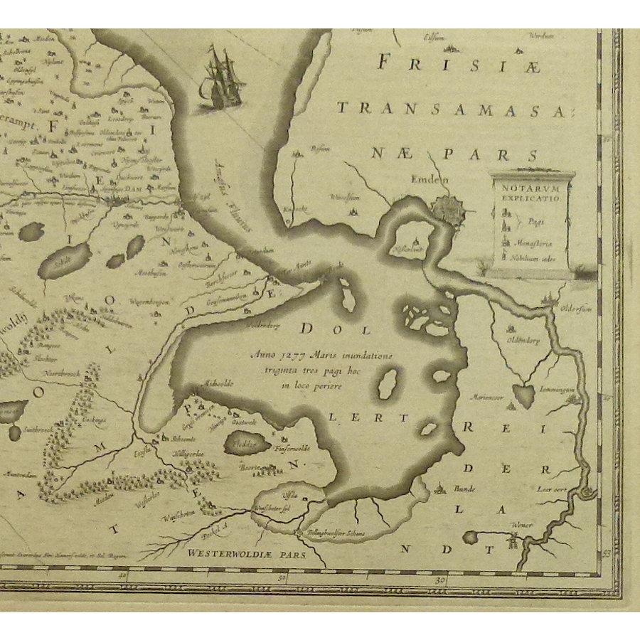 Gouldmaps Groningen; J. Janssonius - Groninga Dominium.  - 1640 ca.