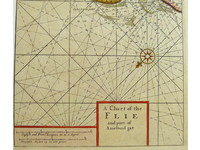 Gouldmaps Waddenzee; J. Thornton - A Chart of the Flie (..). - 1702-1706