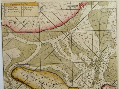 Gouldmaps Waddenzee; S. Thornton - A Chart of the Flie (..). - 1756