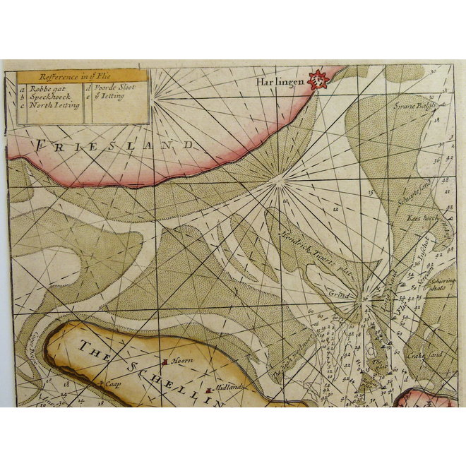 Collectie Gouldmaps - Waddenzee; S. Thornton - A Chart of the Flie (..). - 1756