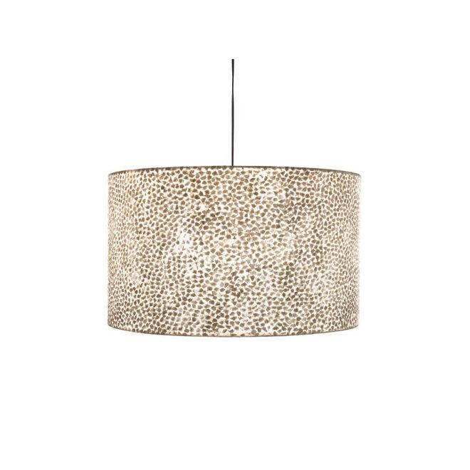 Villaflor schelpenlamp - Wangi White - Hanglamp - cilinder - Ø 55 cm