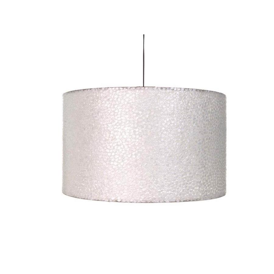 Villaflor Villaflor schelpenlamp - Wangi White - Hanglamp - cilinder - Ø 55 cm
