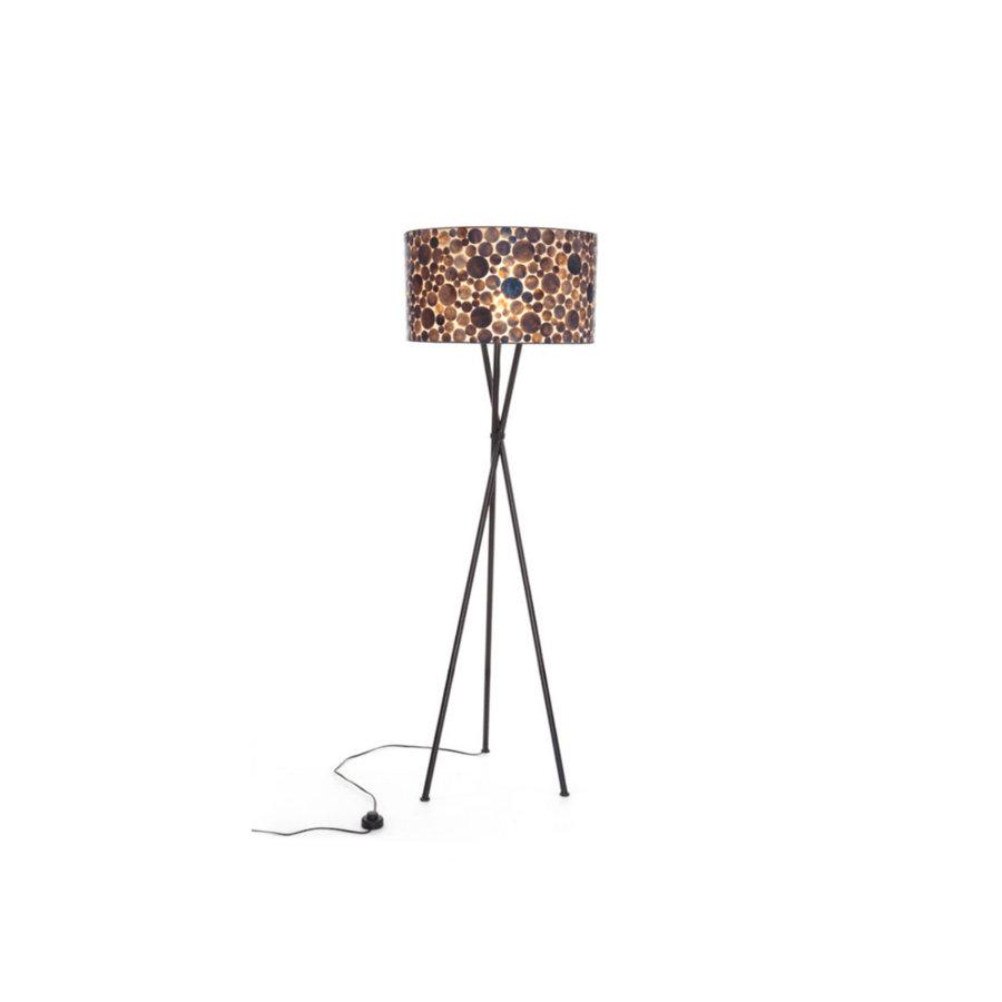 Villaflor Coin Gold - Kodiak vloerlamp met kap - hoogte 172 cm