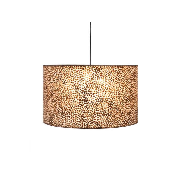 Villaflor schelpenlamp - Wangi Gold - Hanglamp - cilinder - Ø 55 cm