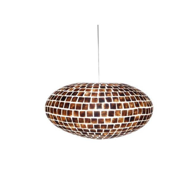 Schelpenlamp - Moni Gold - Hangende UFO - Ø 60 cm