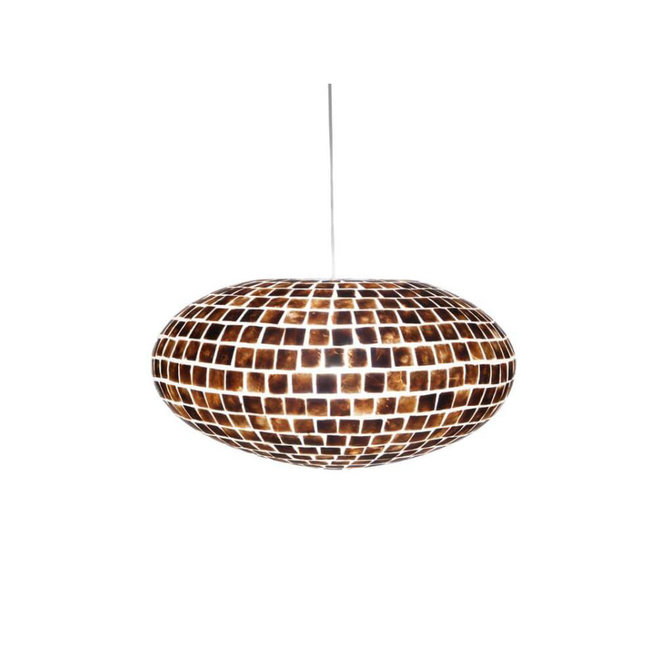 Villaflor schelpenlamp - Moni Gold - hanglamp - UFO - Ø 60 cm
