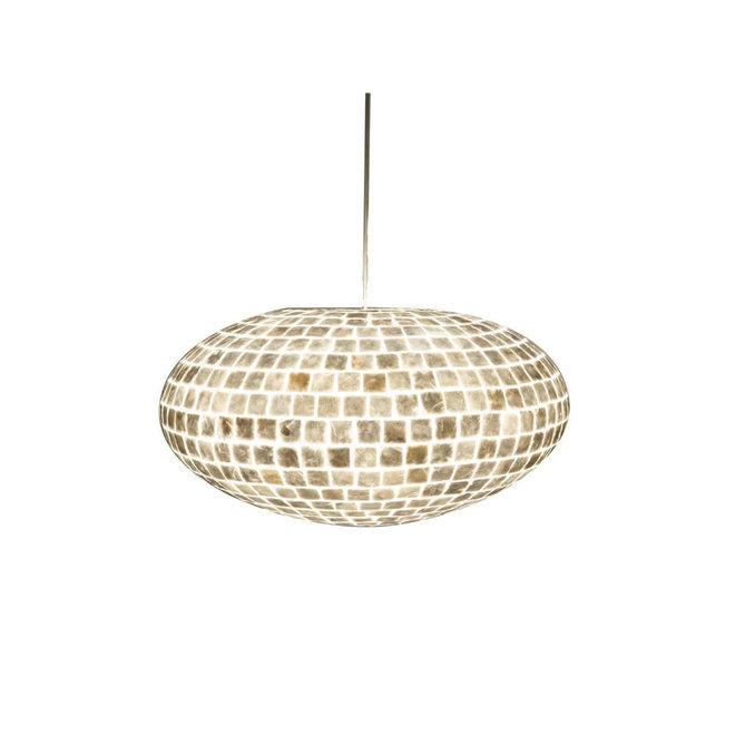 Villaflor schelpenlamp - Moni White - hanglamp - UFO - Ø 60 cm