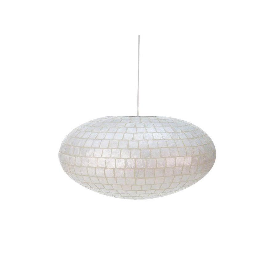 Villaflor Moni White - hanglamp - UFO - Ø 60 cm